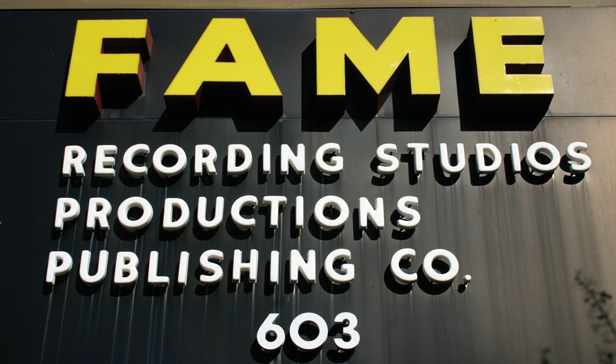 Muscle Shoals Fame Studio Sign