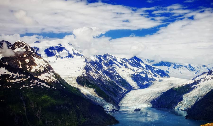 Gletscher am Prince William Sound