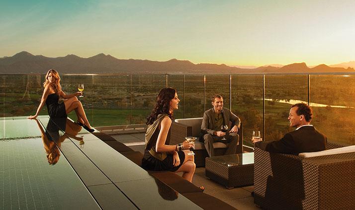 Let's have a Drink? Schicke Roof-Top-Bars in Scottsdale (hier: Orange Sky Patio im Talking Stick Resort)
