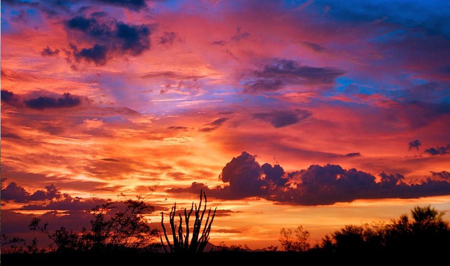 Sonnenuntergang bei Tucson