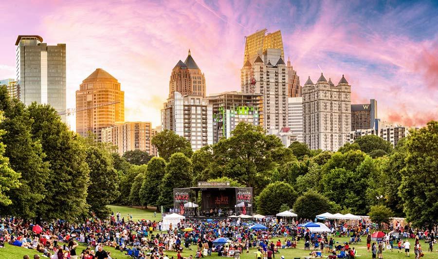 Atlanta während des Jazz Festivals