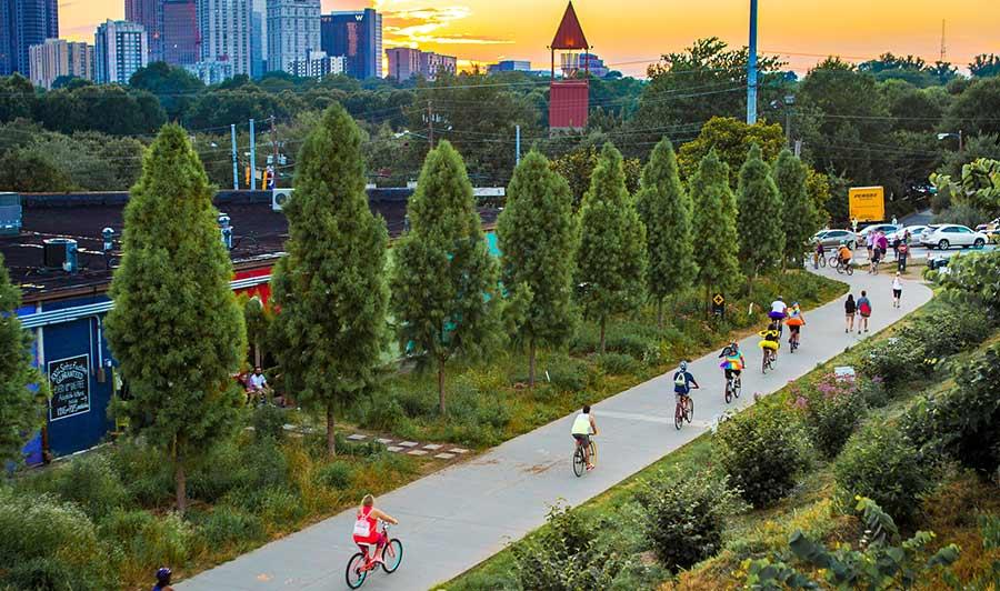 Radeln auf der BeltLine um Atlanta