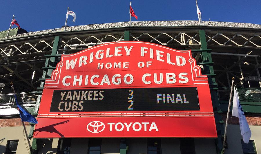 Heimat der Cubs: das Wrigley Field