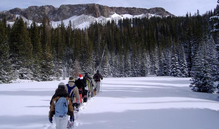 Schneeschuhwandern bei Ft. Collins
