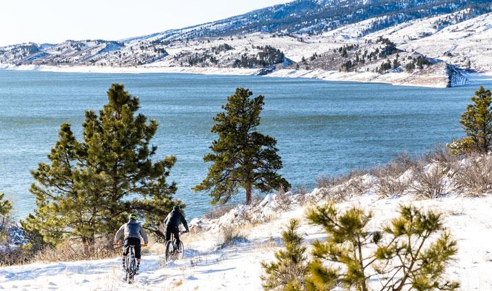 Fat Tire Biking am Horsetooth Reservoir