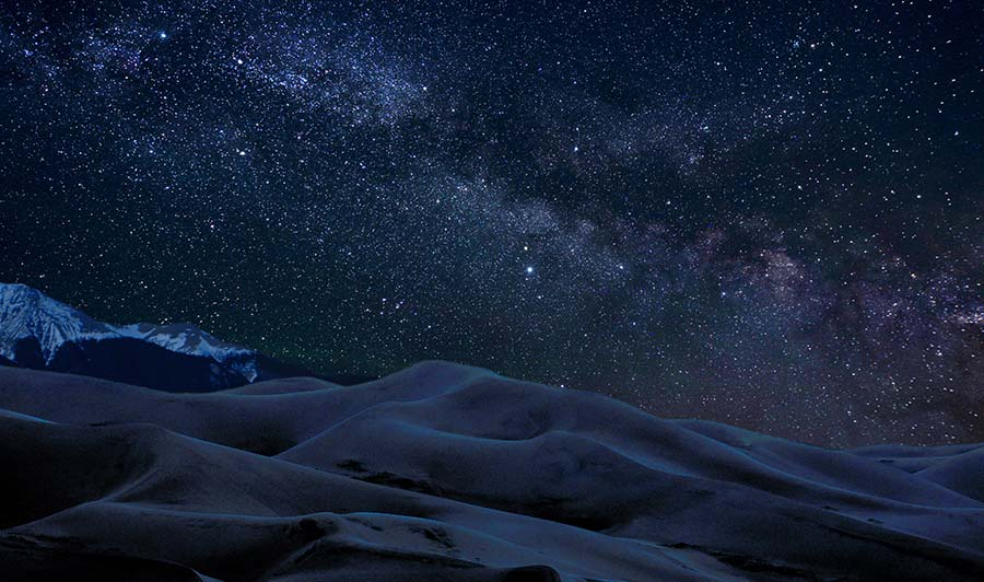 Great Sand Dunes National Park by Night