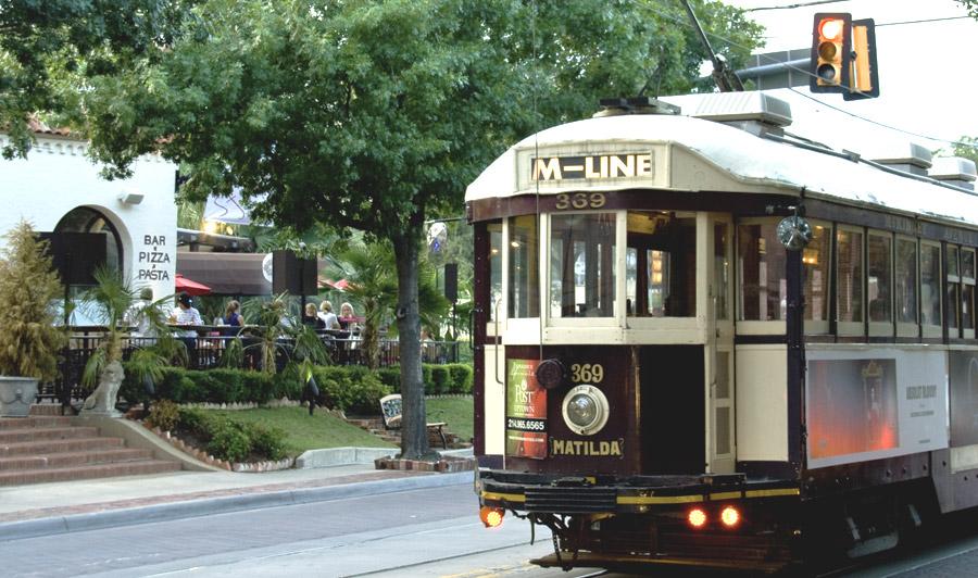 Dallas M-Line Trolley