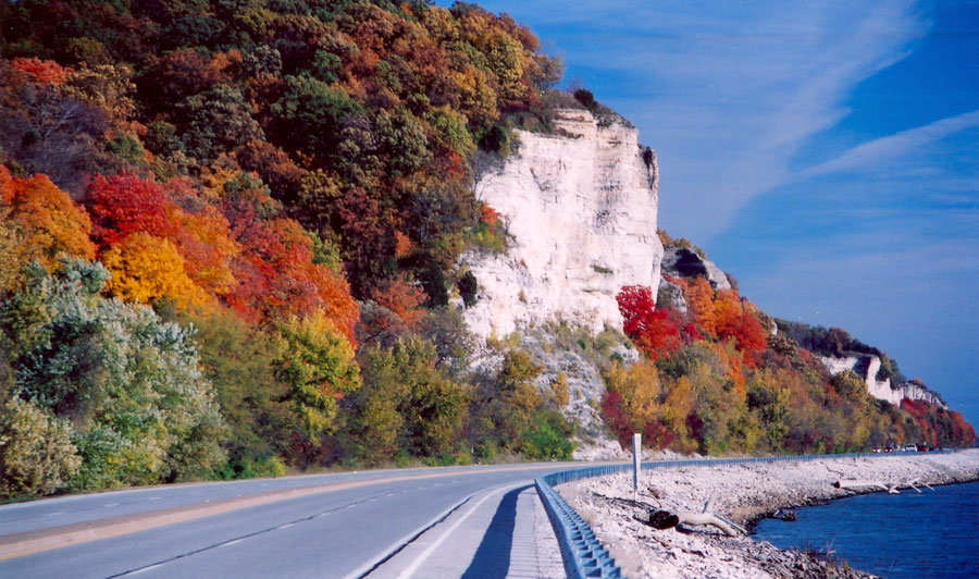 Great River Road am Mississippi im Herbst