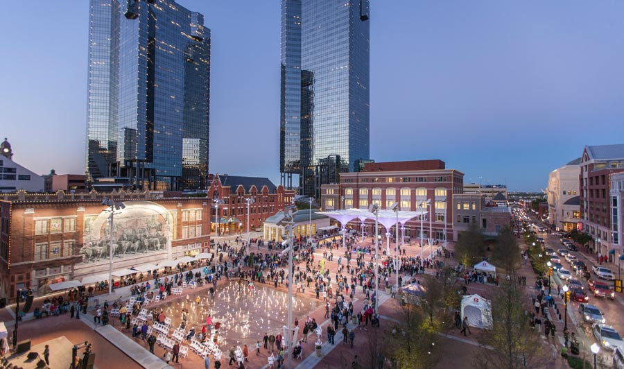 The Plaza in Sundance Square, Fort Worth