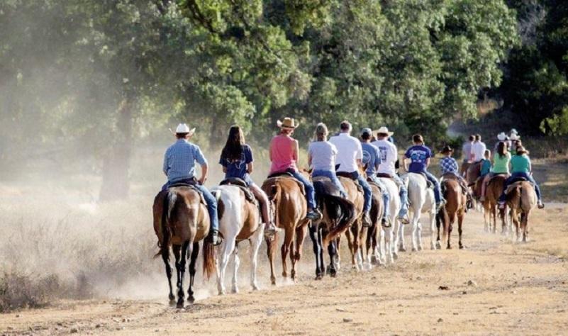 Reitausflug der Mayan Dude Ranch nahe San Antonio