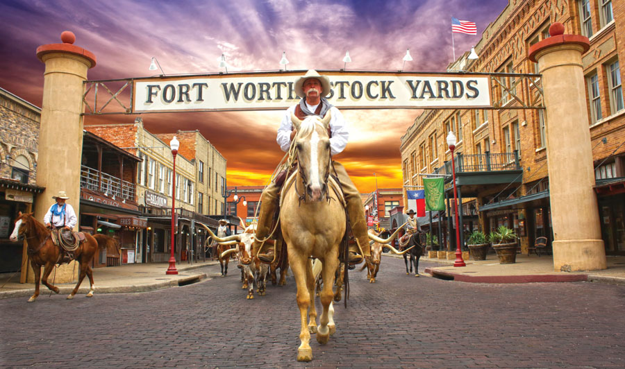 Viehtrieb: Fort Worth Stockyards