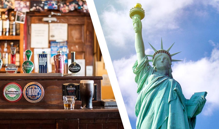 Produktbild Top Städtekombi: Dublin & New York City!