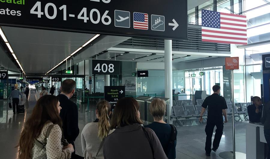 Zeit sparen: US-Immigration schon in Dublin!