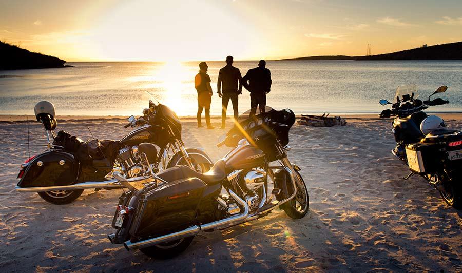 Sonnenuntergang nach einem herrlichen Fahrtag in Baja California