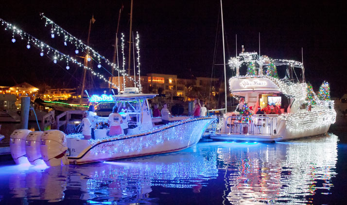 Lighted Boat Parade in Key West