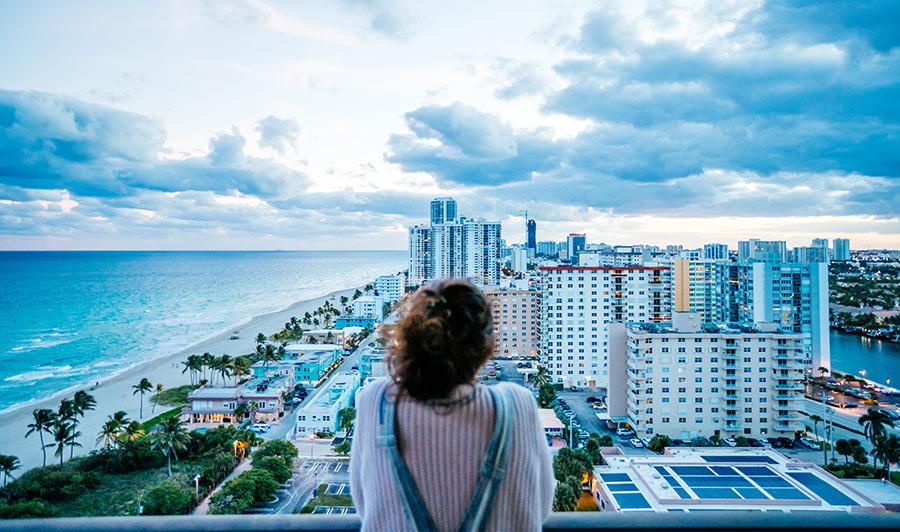 Blick auf Hollywood, Florida