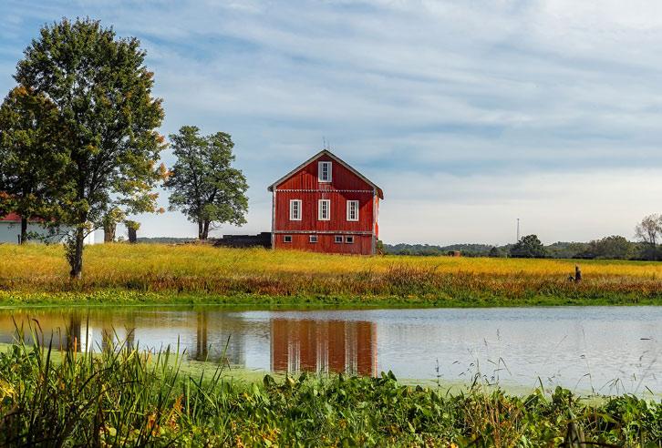 typisches Farmhaus in Ohio