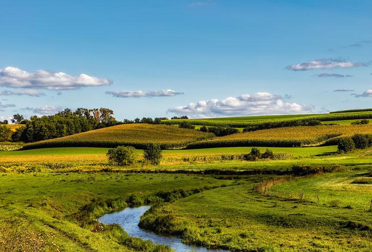 typische Landschaft in Wisconsin