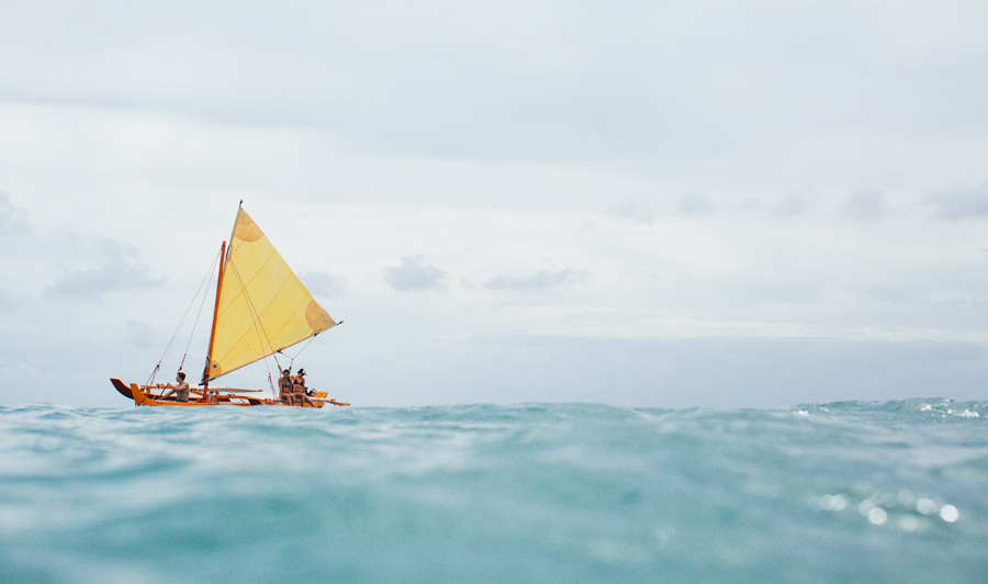 Let's go sailing! Kahala Beach, Oahu