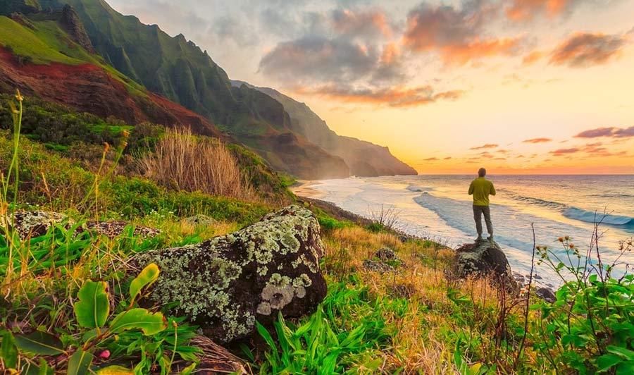 Fantastische Landschaft auf Oahu