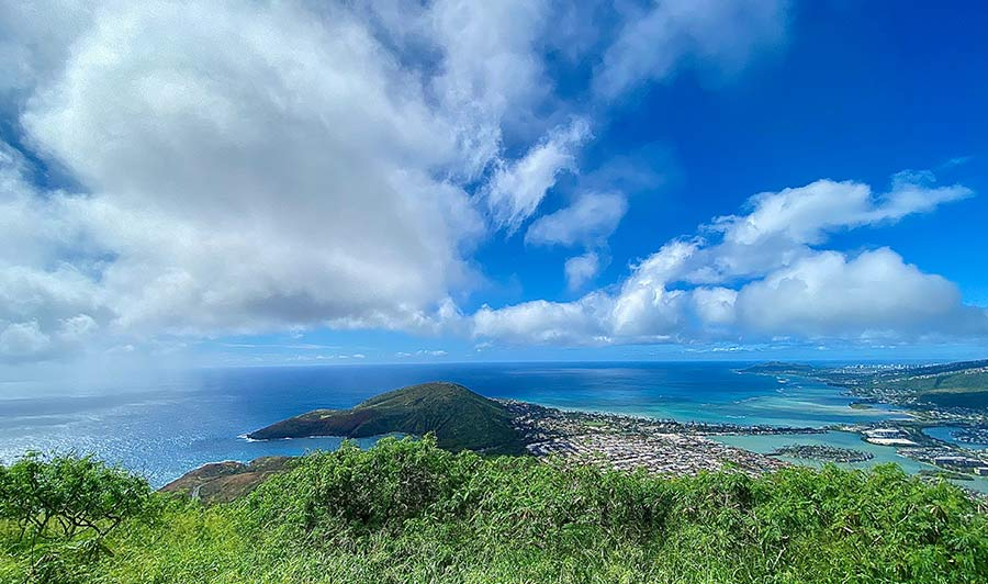 Blick vom Cocohead auf Oahu
