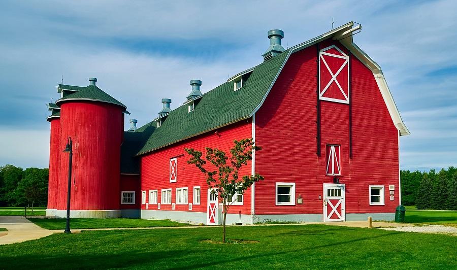 Typische Farm in Indiana