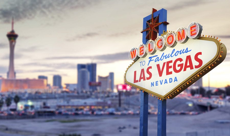Las Vegas Sign in der Dämmerung