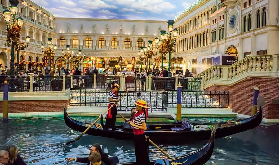 Das Venetian im weihnachtlichen Glanz
