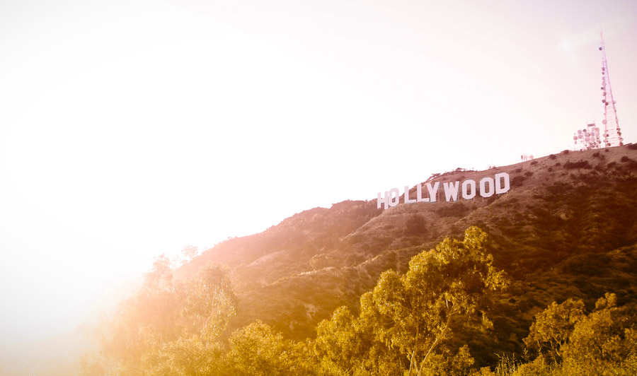 Hollywood Sign Sonnenuntergang