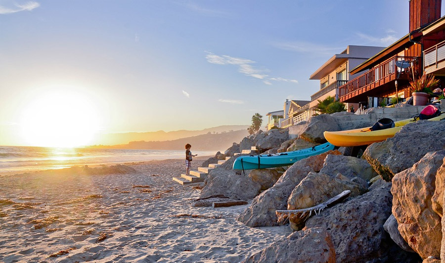 Malibu Beach, Sonnenuntergang