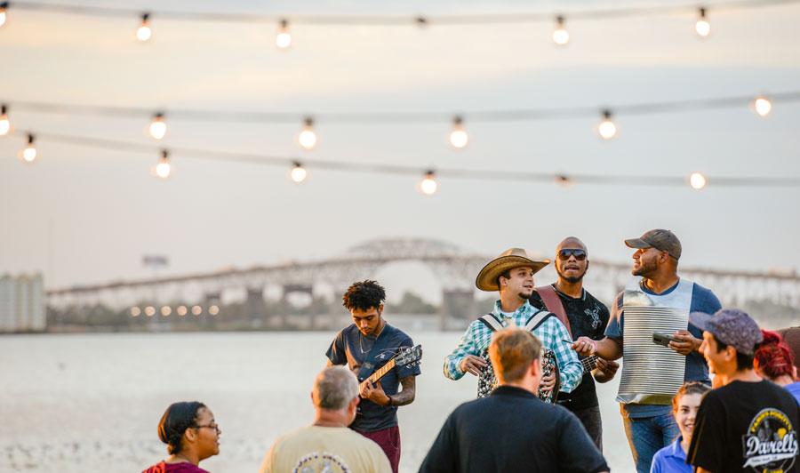 Ankunft in Lake Charles | Live-Musik in Lake Charles
