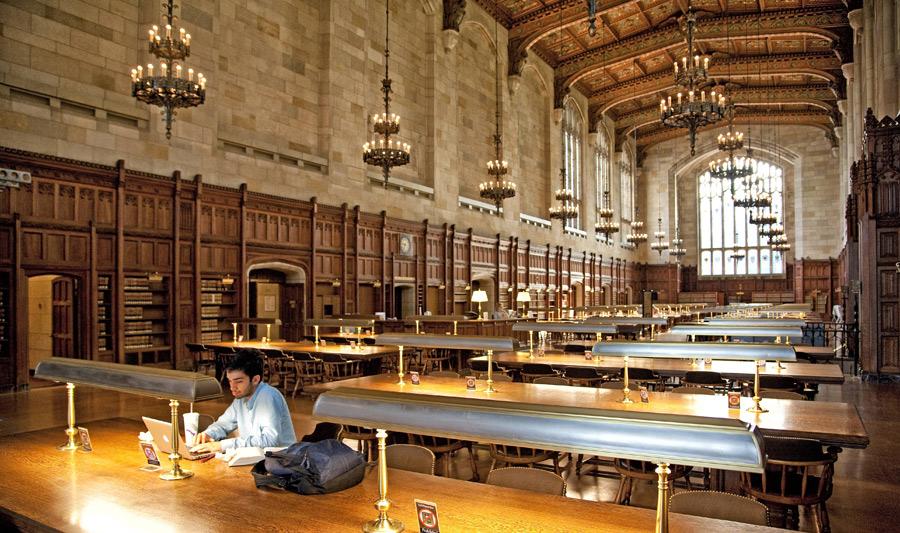 Lesesaal der Universität in Ann Arbor