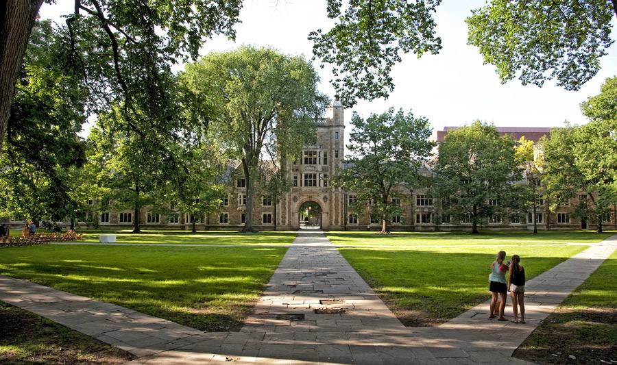 Unverzichtbar in Ann Arbor: ein Spaziergang über den Uni-Campus