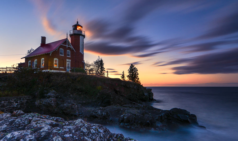 Eagle Harbor Lighthouse auf der Keweenaw-Halbinsel
