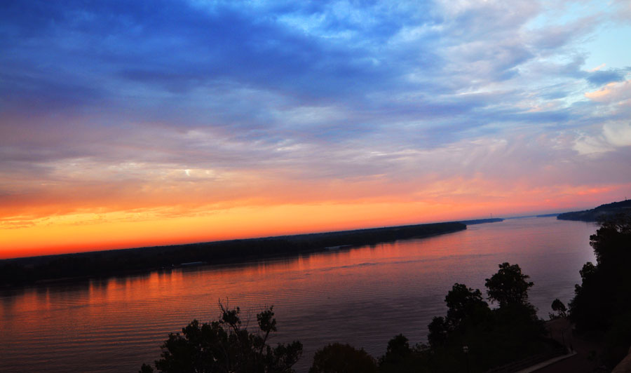 Sonnenuntergang Mississippi