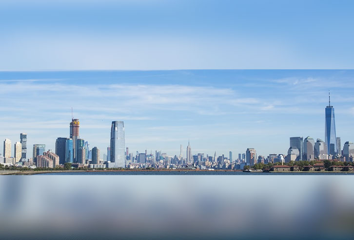 Jersey City und Manhattan