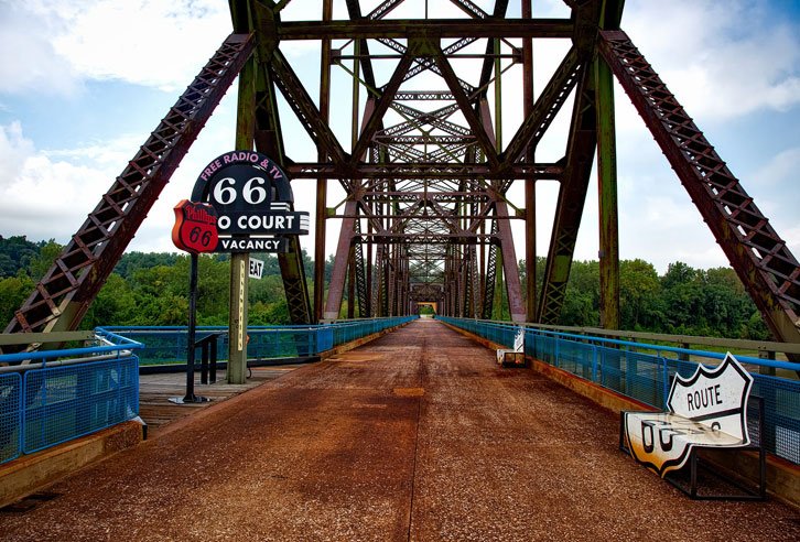 Route 66: Chain of Rocks Bridge bei St. Louis, Missouri