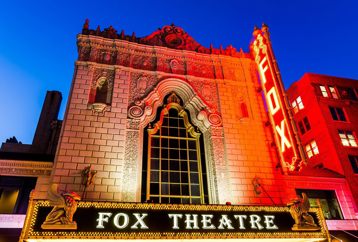 historisches Fox Theatre in St. Louis, Missouri