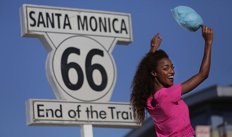 Am Santa Monica Pier endet die Route 66.