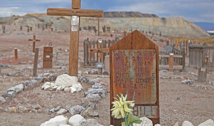 Historischer Friedhof bei Tonopah