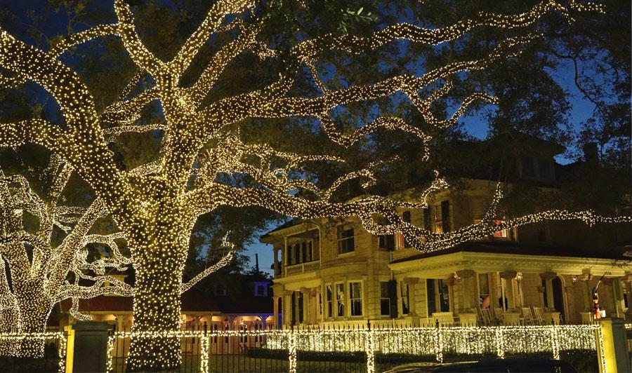 weihnachtlich geschmücktes Uptown, New Orleans