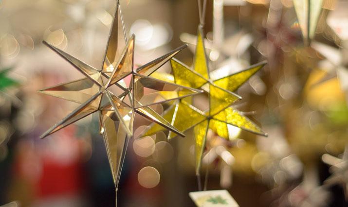 Herrenhuter Weihnachtsstern auf dem Christkindlmarkt