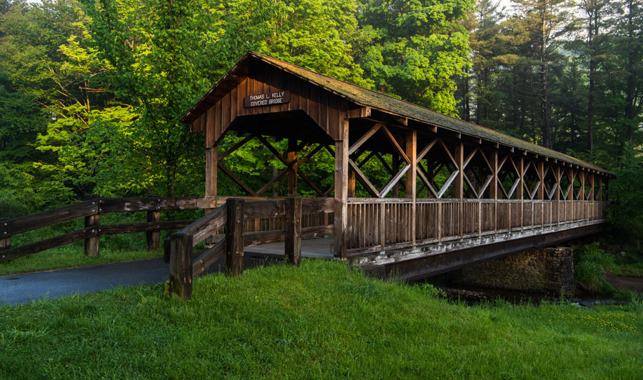 Allegany State Park: Thomas Kelly Covered Bridge