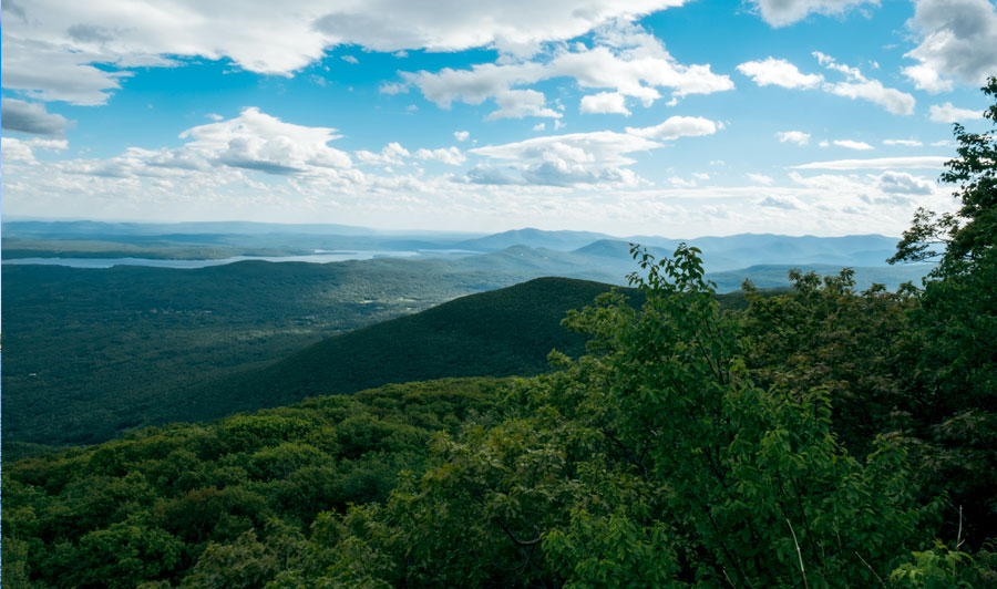 Blick auf die Catskill Mountains nahe Woodstock