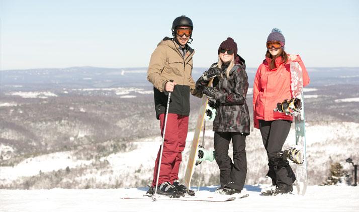 Skifahrer in den Pocono Mountains