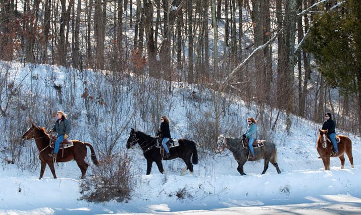 Winterlicher Ausritt in den Poconos, Fernwood Resort