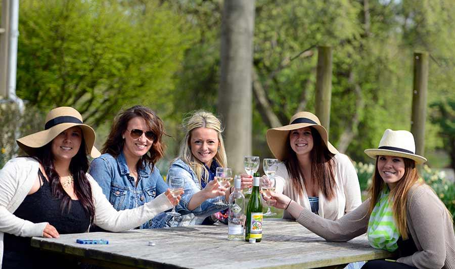 Verkostung bei der Chadds Ford Winery im Brandywine Valley