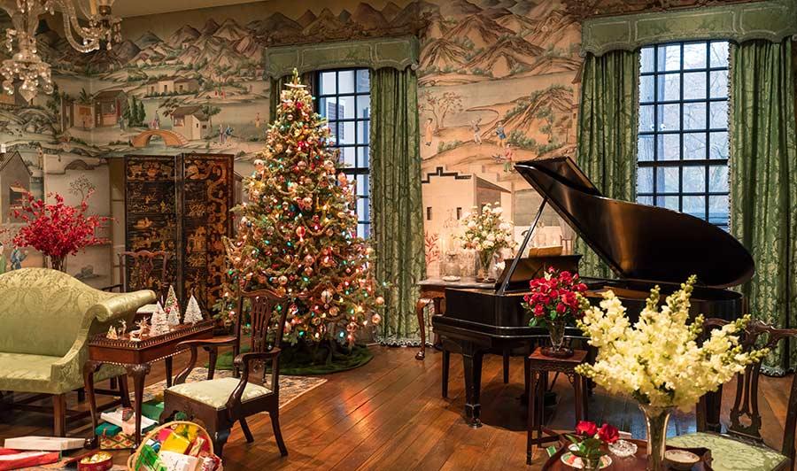 Das Winterthur-Anwesen zur Weihnachtszeit