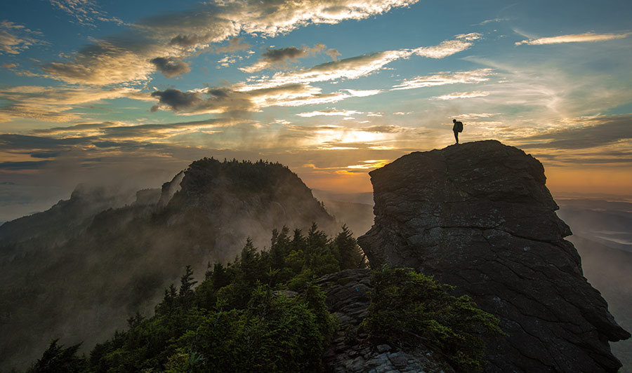 Grandfather Mountain in den Blue Ridge Mountains