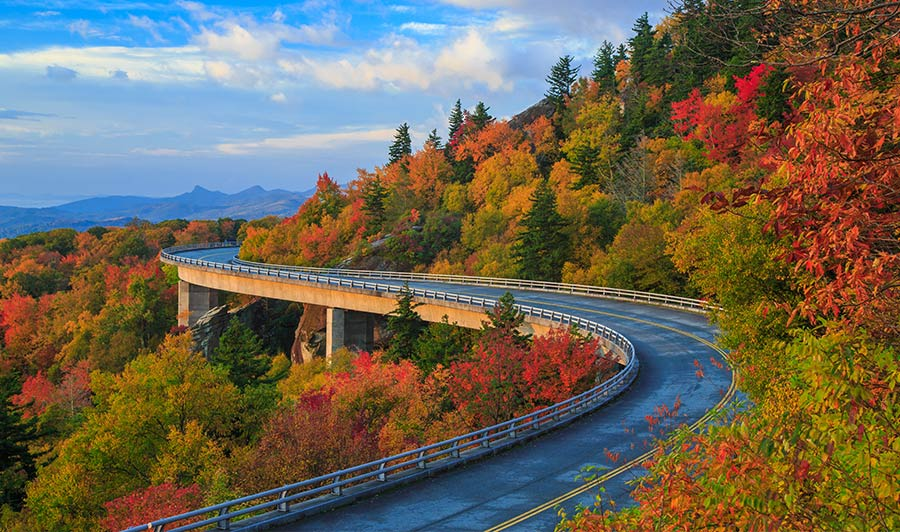 Linn Cove Viaduct auf dem Blue Ridge Parkway